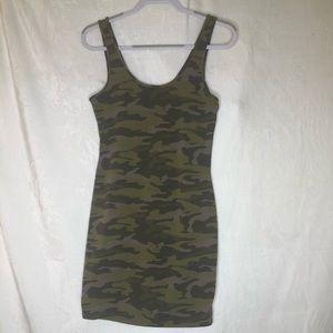 Camouflage mini dress